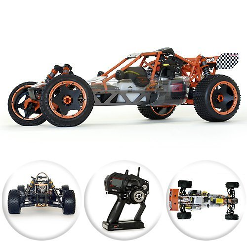 King Motor Baja KSRC-002 30.5cc 1/5 Scale 2 Speed Gas / Petrol Powered RC Remote Control Car