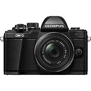 Olympus OM-D E-M10 Mark II Mirrorless Digital Camera with 14-42mm II R Lens (Black)