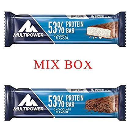 Multipower 53% Protein Bar Riegel Display 24x50g Mixbox