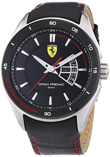 Ferrari - Orologio da polso, analogico al quarzo, pelle