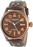 Stuhrling Original Men's  141.3365K59 Eagle Sportsman's Collection Swiss Quartz Brown Dial Watch