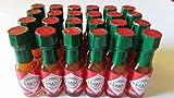 Mini Tabasco Original Pepper Sauce Bottles 1/8 Oz. - Box of 24 Little Real Glassbottles