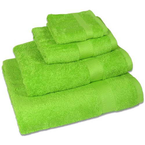 Egyptian 100% Super Soft Cotton 550 Gsm Bath Sheet in Lime Green