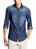 Trussardi Jeans Camisa Hombre (Denim Lavado)