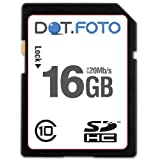 Dot.Foto 16Gb SDHC Class 10 High Speed 20Mb/s card for Canon DC410, DC411, DC420