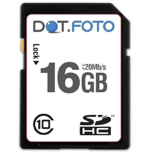Dot.Foto Extreme SDHC 16Gb Class 10 (20Mb/s) Speicherkarte für Silvercrest Video-Kamera Modelle [Siehe Beschreibung für die Kompatibilität]