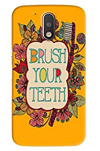 Blue Throat Brush Your Teeth Printed Designer Back Cover For Moto G4