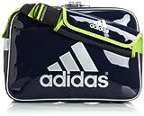 [アディダス] adidas メッセンジャーエナメルM WD154 F92213 (カレッジネイビー/メタリックシルバー/ソーラースライム)