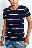 インプローブス imp 半袖 ボーダー Tシャツ A ネイビー × ホワイト L