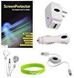 CrazyOnDigital Nook 4-item Accessory Kit – 3 in 1 Charger, Screen Guard and Earphone Picture