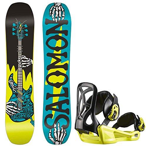 Kinder Freestyle Snowboard Set Salomon Grail 130 +Goodtime Xs 2017 Girls Snowboard Set