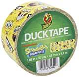 Duck Brand 280906 SpongeBob SquarePants Printed Duct Tape, 1.88-Inch by 10 Yards, Single Roll