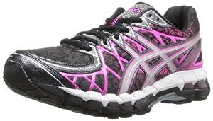 ASICS Women's Gel-Kayano 20 Running Shoe,Swarm/Lightning/Hot Pink,8 M US