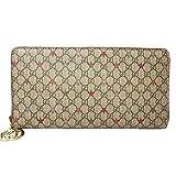 GUCCI Round fastener length wallet Beige 307982kh42g8878