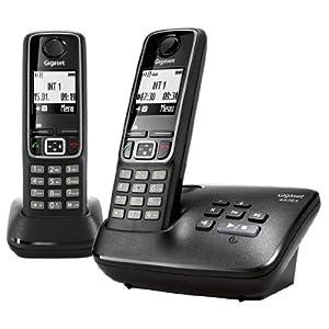 Gigaset A420A DUO Téléphones Sans fil Répondeur Ecran Noir