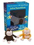 Julia Donaldson Night Monkey Day Monkey Books & Plush Set (Book & Toy)