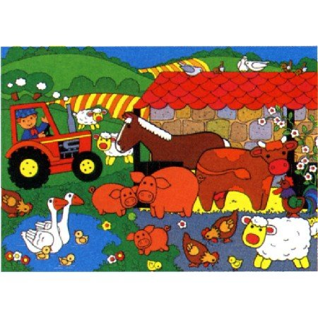 Cheap Jumbo Farm Floor Puzzle (B000J57A3G)