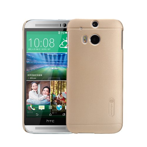 Moon Monkey Well-Selected Classical Grain Line Ultra-Thin Slim Cover Case For Htc One2/M8 (Champagne)