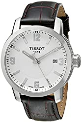 Tissot Men's T0554101601701 PRC 200 Analog Display Swiss Quartz Brown Watch