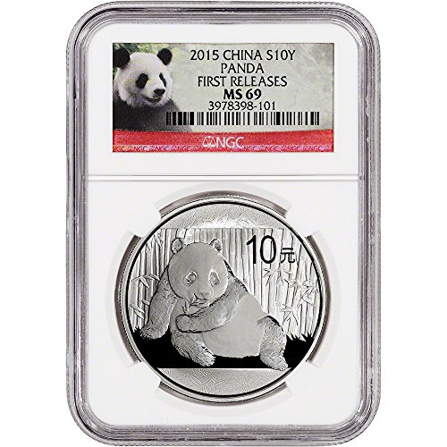2015 CN China Silver Panda (1 oz) 10 Yuan MS69 - First Releases NGC