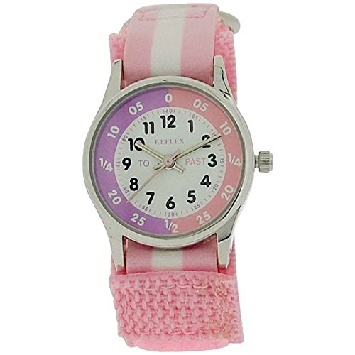 reflex-time-teacher-pink-white-velcro-strap-girls-childrens-watch-refk0005