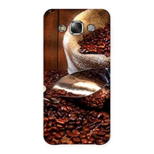Impressive Coffee Beans Brown Back Case Cover for Galaxy E7