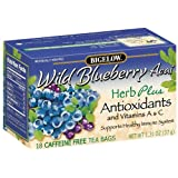 Bigelow Tea, Herb Plus Wild Blueberry Acai, 18-Count Tea Bags (Pack of 6) ~ Bigelow Tea