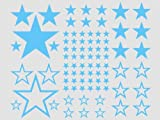 Wall Decal 82 stars - 56-ice blue