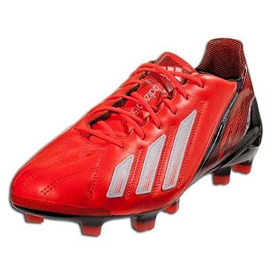 Adidas F50 Adizero TRX FG Leather Q33845 Messi Red White Black Mens Soccer Cleats by adidas