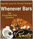 Pamela's Products Wheat Free & Gluten Free Whenever Bars Oat Choc Chip Coconut, 5 Count Box, 7.05-Ounce (Pack of 6)