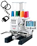 Janome MB-4S Four Needle Embroidery Machine Includes Free Bonus Accessories