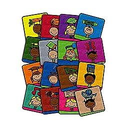 Flagship Carpet Children Learning Floor Playmat Nylon School Kids Squares - 18\