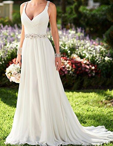 Wedding Dress Accessories Straps : Ellagowns v neck shoulder straps soft ruching chiffon