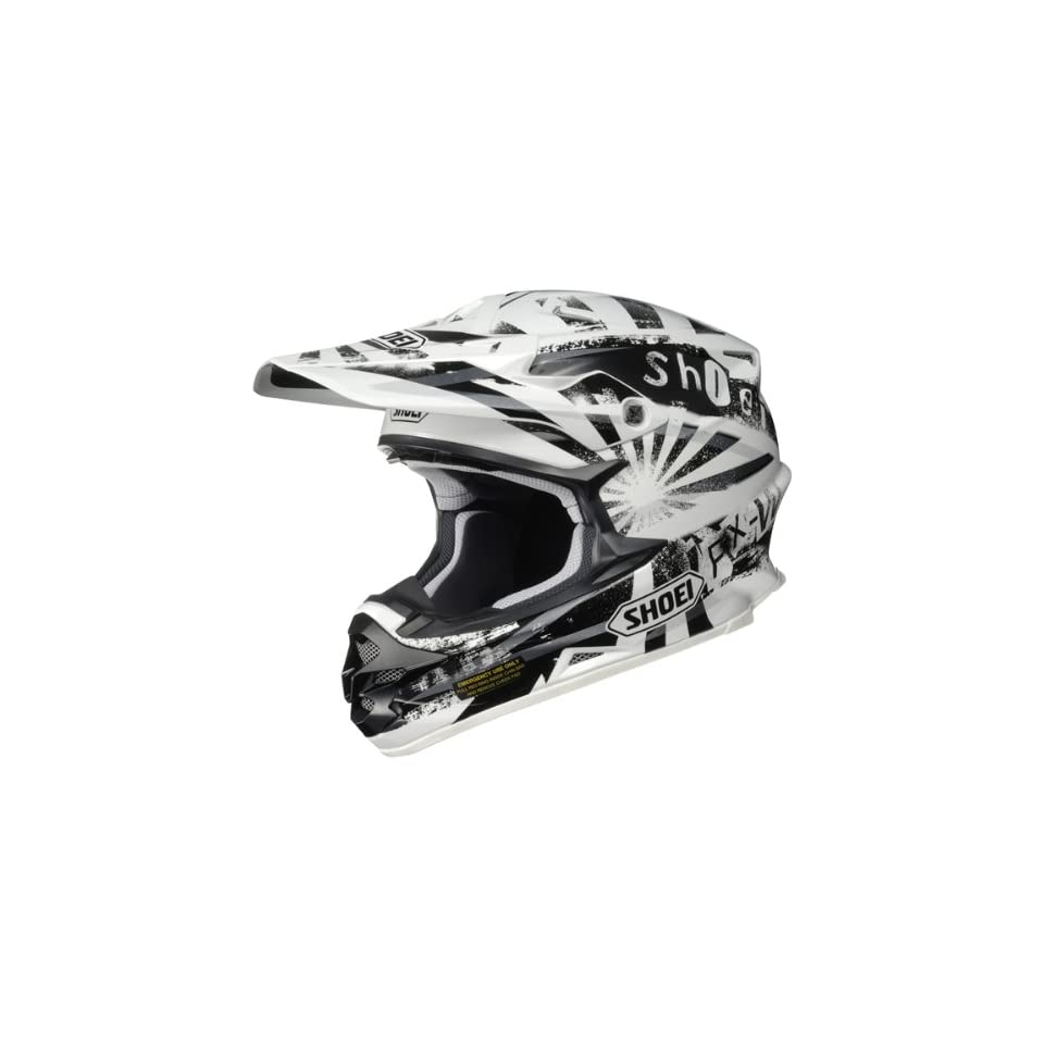 SHOEI VFX W DISSENT MX OFFROAD HELMET WHITE/BLACK XL on PopScreen