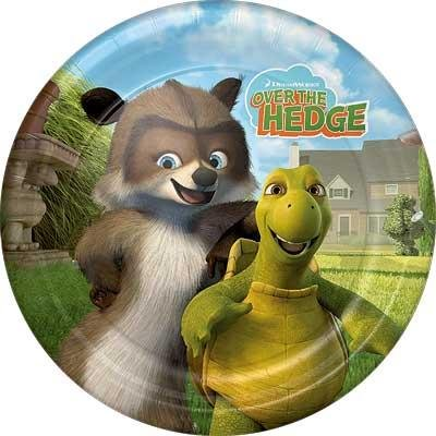 "Over the Hedge 9"" Dinner Plates - 8 Count"