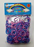 W.I.I. Tri-Color Refill Pack Bracelet Latex-Free Colorful Loom Bands, 600 PCS + 25 S Clips