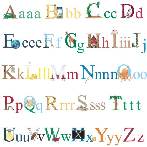 RoomMates RMK1029SCS Alphabet Peel and Stick Wall Decals