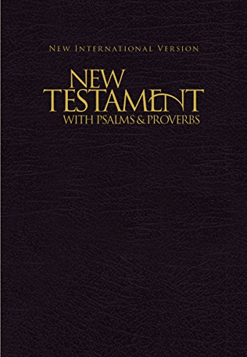 NIV, New Testament with Psalms and   Proverbs, Pocket-Sized, Paperback, Black (Mini Bibles compare prices)