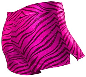 Amazon.com : Pizzazz Cheerleaders/Dance Zebra Glitter Shorts HOT PINK