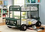 Furniture of America Metal Twin Sarge Green Jeep Bunk Bed