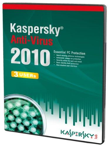 Kaspersky Anti-Virus 3 User, 1 Year License,