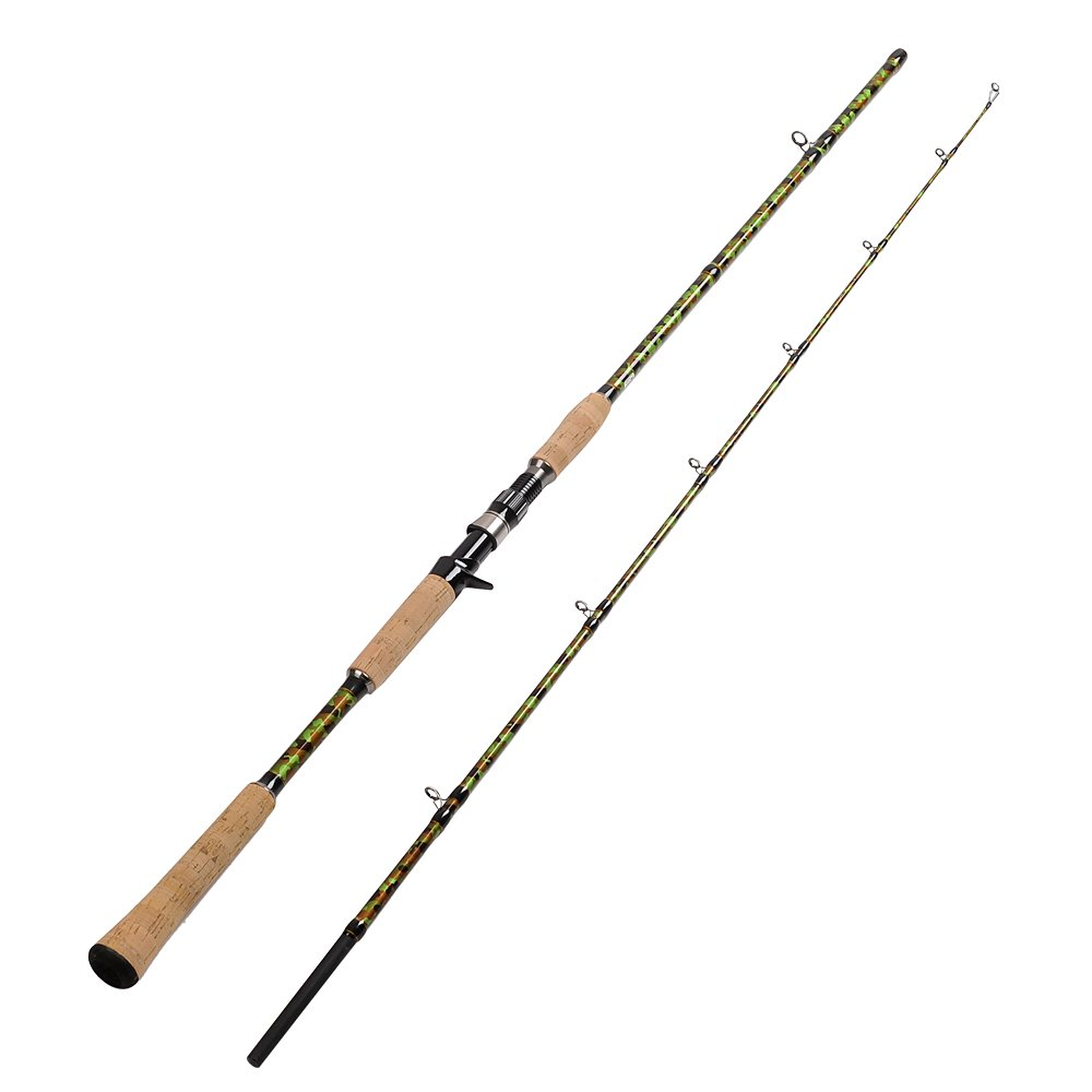Fiblink 7 39 6 39 39 graphite heavy casting fishing rod frog lure for Heavy fishing rod