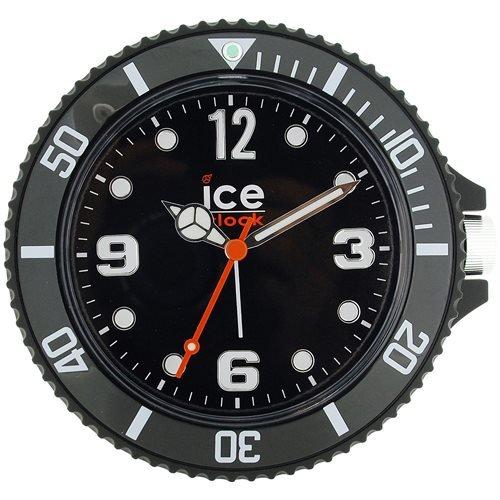 Ice Clock 13cm schwarzer gummierter Reisewecker/Wanduhr