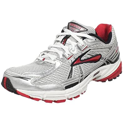 Brooks Men's Adrenaline Gts 11 Running Shoe,White/Black/Silver/Slam,10 D US