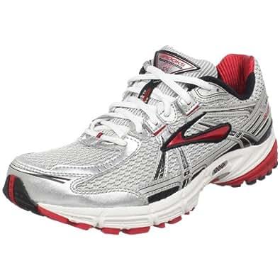 Brooks Men's Adrenaline Gts 11 Running Shoe,White/Black/Silver/Slam,8 D US