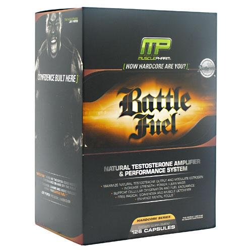 Muscle Pharm Battle Fuel Testosterone Booster Capsules - Box of 126