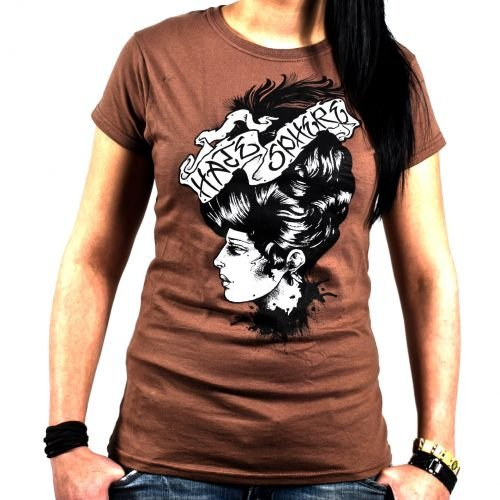 T-Shirt, felpe Hatesphere-Dead Amy marrone Small