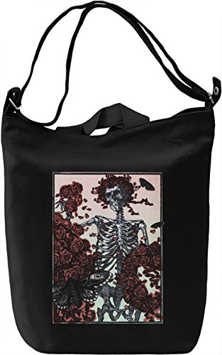 Death and Roses Borsa Giornaliera Canvas Canvas Day Bag| 100% Premium Cotton Canvas| DTG Printing|