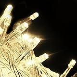 Warmweiße LED Lichterkette (10m) mit 100 LED-Lämpchen, Dekoration für Festen