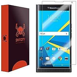 Skinomi TechSkin - BlackBerry Priv Screen Protector Premium HD Clear Film / Ultra High Definition Invisible and Anti-Bubble Crystal Shield